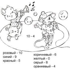 мышка и свинка раскраска с примерами