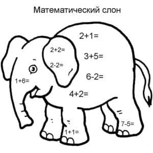 математический слон для 1 класса