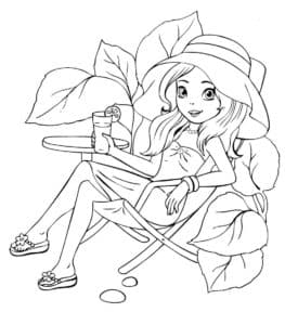 Девочка с коктейлем