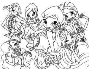 Девочки раскраска для ребенка