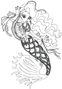 Красивая русалка