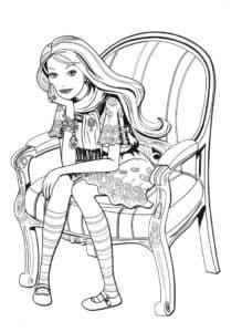 Барби на стуле