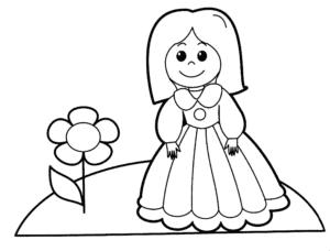 девочка и цветочек