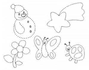 снеговик бабочка и божья коровка