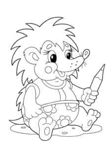 Ежик с карандашом