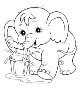Слон с ведром