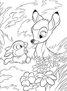 олененок и зайчик