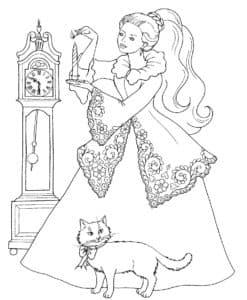 Принцесса, кот и часы
