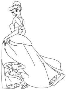Принцесса раскраска для ребенка