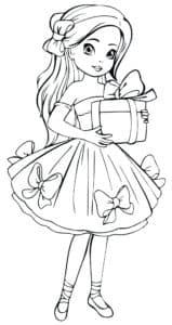 Девочка держит подарок