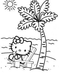 котенок под пальмой