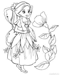 Маленькая фея и большой цветок