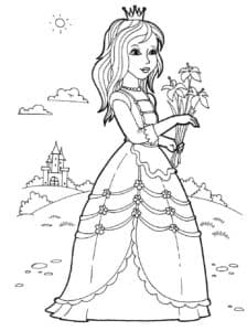 Принцесса гуляет на лугу