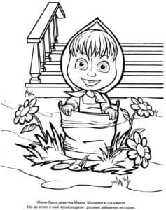 Маша раскраска детская