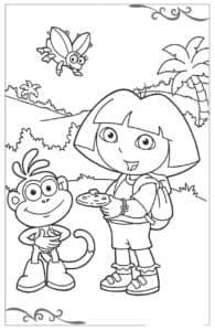 даша путешественница и обезьяна