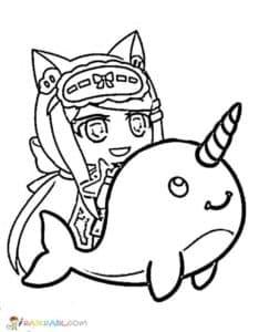 Девочка на дельфине