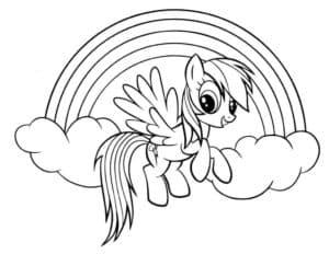 Маленькая пони на радуге