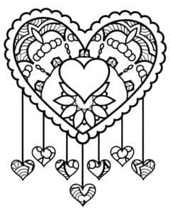 Сердце с узорами