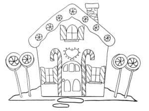 Дом из конфет