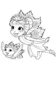 маленькая фея и птичка