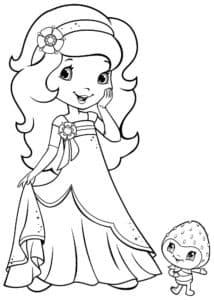 Девочка и живая клубника