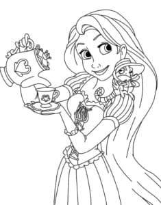 Рапунцель наливает чай