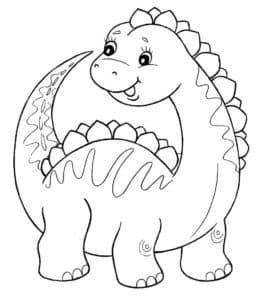 Динозавр раскраска