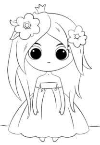 Маленькая девочка в платье с короной