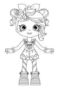 девочка в шортах