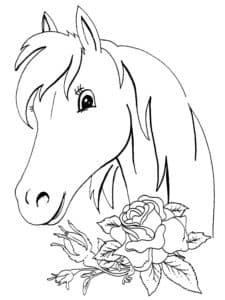 Морда лошадки и цветы