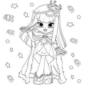 Девочка в короне и шубе