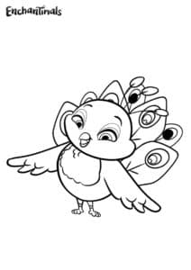 Птичка раскраска детская