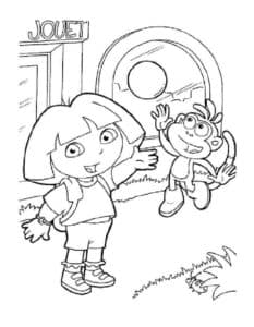 Даша путешественница с обезьянкой