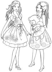 Барби с подружкой