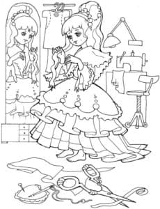 Маленькая принцесса раскраска