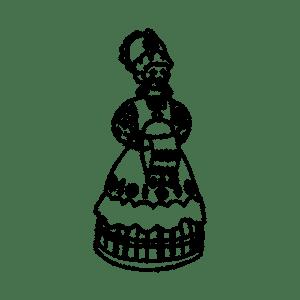 Дымковская барышня с полотенцем