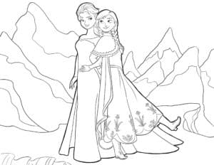 Эльза и Анна в горах