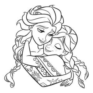 Анна обнимает Эльзу