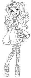 девушка в юбке с бантиком на голове