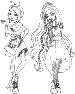Две девушки Эвер Афтер Хай