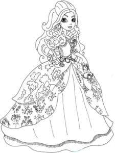 Девочка в платье с узорами