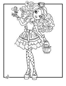 Девушка с чайником и бантиком