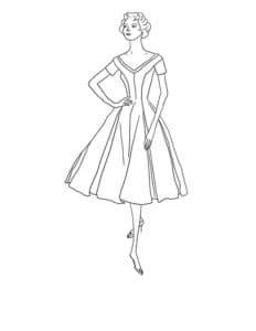 Стильное платье на модели