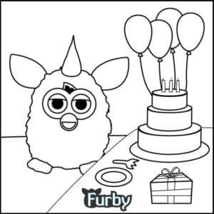 Ферби Бум и торт с воздушными шарами