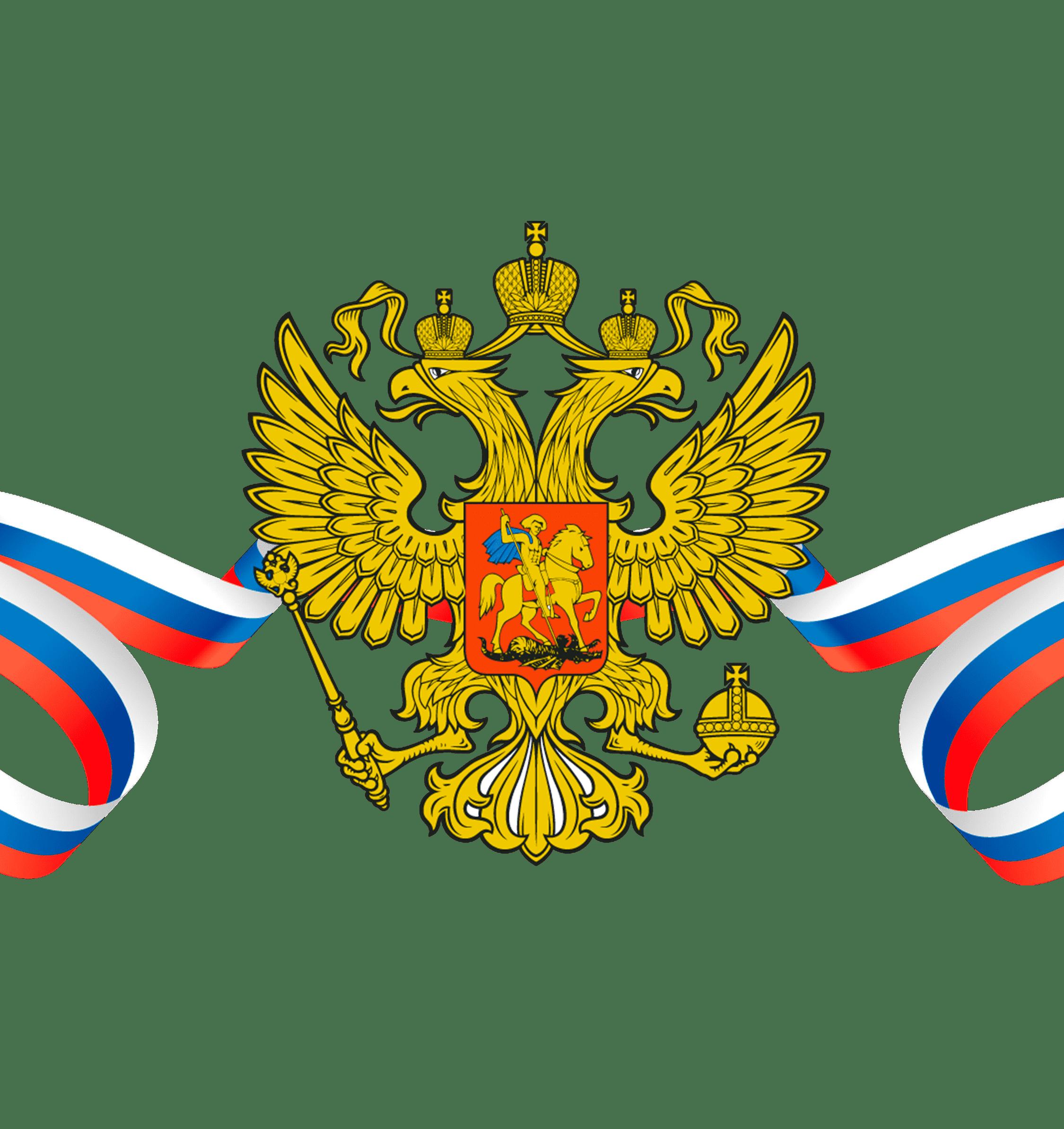 Раскраска Флаг и герб России