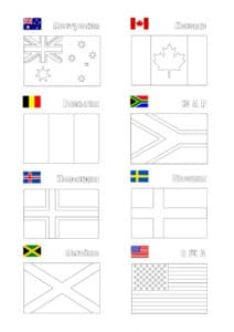 раскраска флаги с примерами