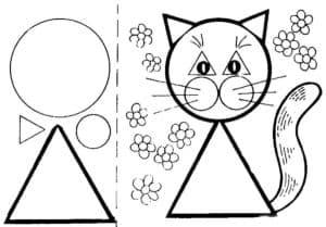 кошка картинка для вырезания