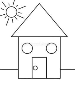 дом и солнышко