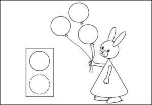 зайка с воздушными шарами