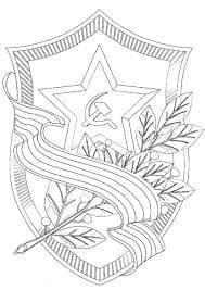 георгиевская ленточка цветы и звездочка